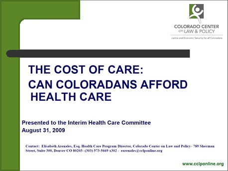 Cost of Care - Presentation