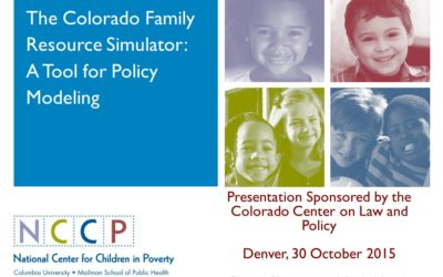 The Colorado Family Resource Simulator: A Demonstration (PowerPoint presentation)