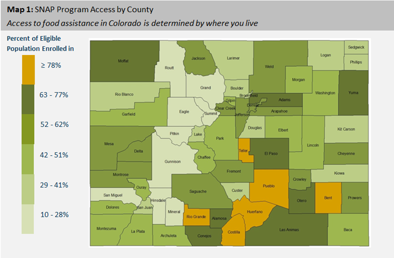 A SNAP Shot Of Food Stamp Access In Colorado