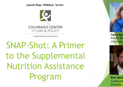 SNAP-Shot: A Primer to the Supplemental Nutrition Assistance Program (Recorded Webinar)