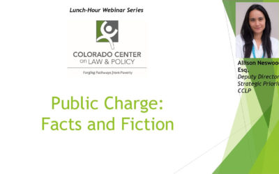 Public Charge: Facts and Fiction