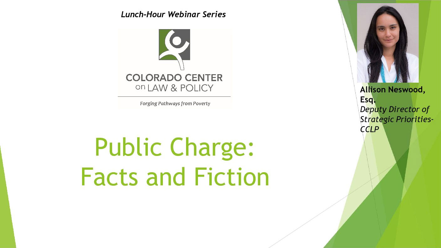 Public Charge: Facts and Fiction - presentation screenshot