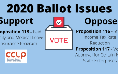 Why we support Proposition 118 and oppose 116 and 117