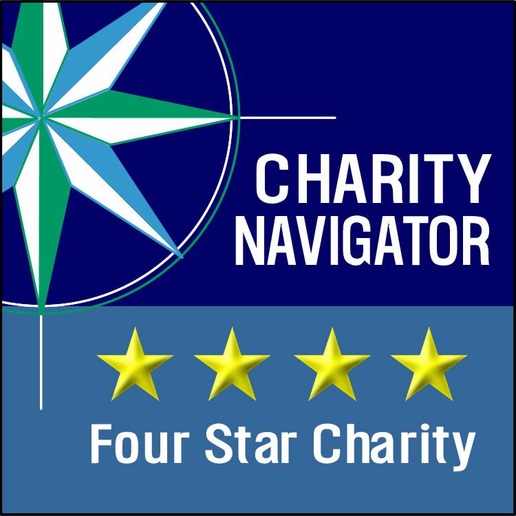 Charity Navigator Four Star Charity badge